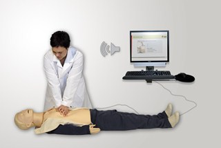 CPR training with concurrent feedback on provided compressions and ventilations.